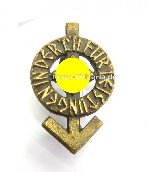 Miniatur HJ Leistungsrune in Bronze