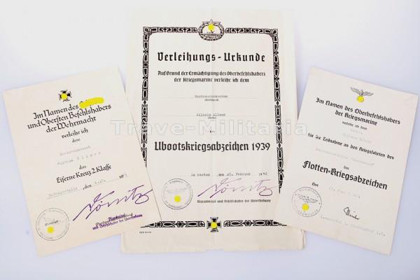 Urkundengruppe Gneisenau und U-125