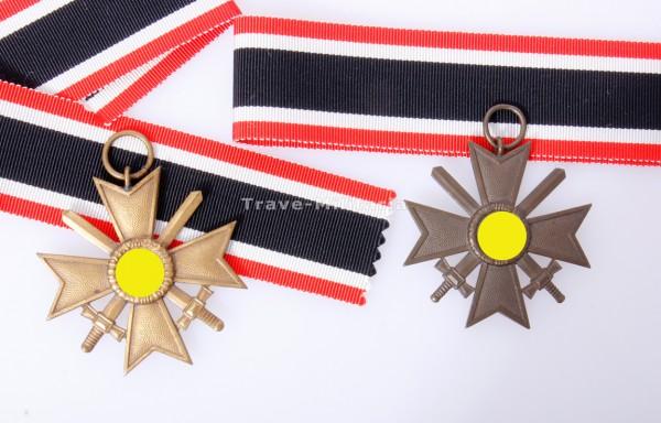 2x Kriegsverdienstkreuz 2. Klasse mit Schwertern