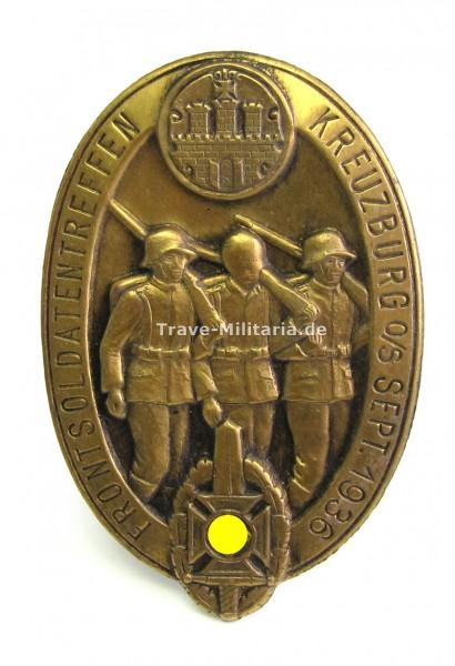 Abzeichen Frontsoldatentreffen Kreuzburg 1936