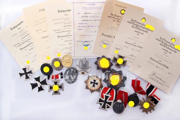 Nachlass Ritterkreuzträger Gottfried Tornau - Sturmgeschütz - DKiG und Allg. Sturmabzeichen 25