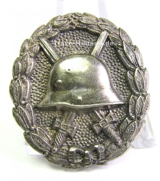 Verwundetenabzeichen Silber - Fertigung aus massiv 800er Silber - Nadel und Ösen - sehr selten