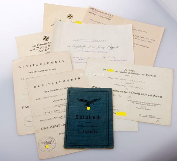Papiernachlass Capelle A.A.3 Afrika später Fallschirm Panzer A.A.1. Hermann Göring