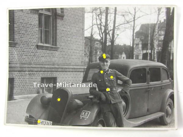 Foto SS-Unterscharführer mit Ärmelstreifen SS-Kriegsberichter