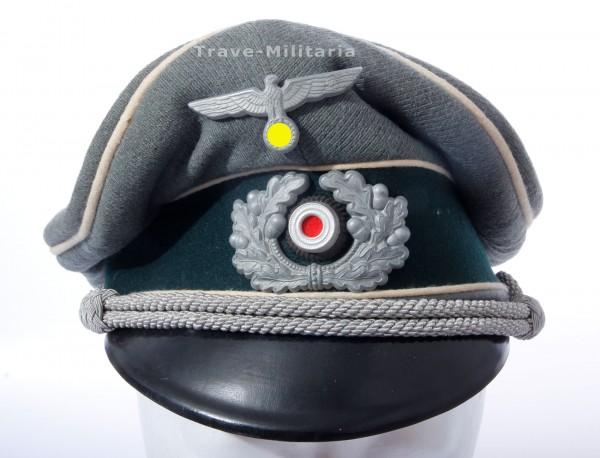 Wehrmacht Heer Schirmmütze eines Offiziers der Infanterie