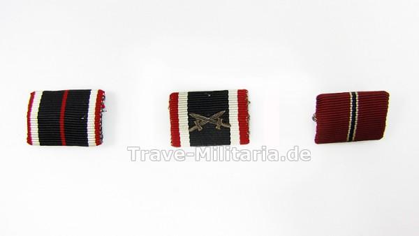 3 Einzelfeldspangen KV-Medaille, WiO und KVK