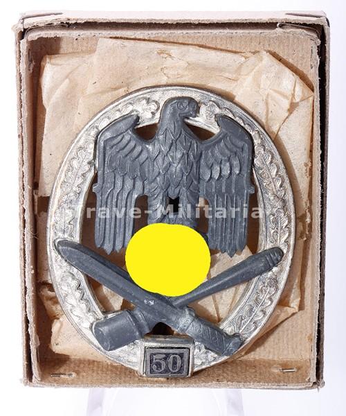 Allgemeines Sturmabzeichen III. Stufe (für 50 Einsatztage) mit Schachtel