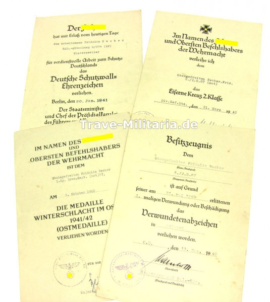 4er Urkundengruppe Infanterie-Regiment 87 (mot)