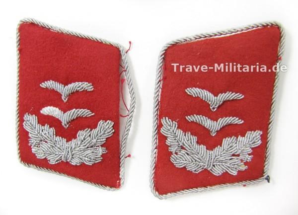 1 Paar Kragenspiegel Oberleutnant Flak
