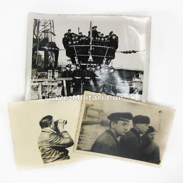 3 Fotos Kriegsmarine U-Boot