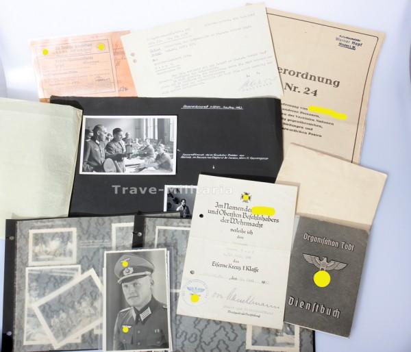 Papiernachlaß Hopf Organisation Todt & Pio- Btl. 385