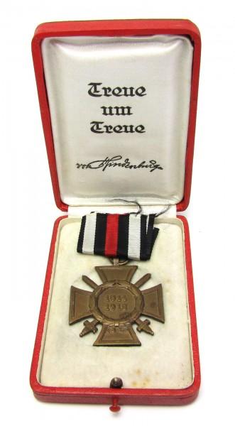 Ehrenkreuz für Frontkämpfer im Hindenburg Etui Treue um Treue SELTEN