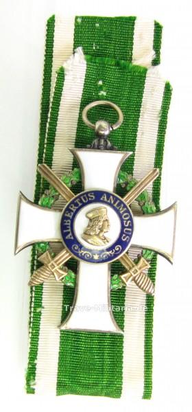 Sachsen Albrechtsorden Ritterkreuz 1. Klasse mit Schwertern am Band
