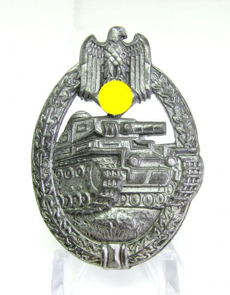 Panzerkampfabzeichen Silber Flat Back