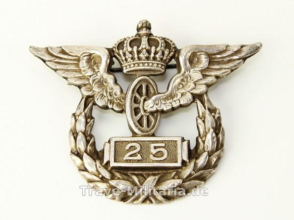 Erinnerungsabzeichen der preußischen Staatsbahn für 25 Jahre