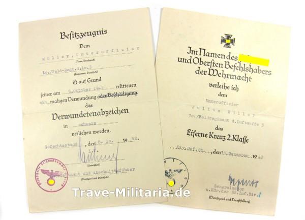2er Urkundengruppe Feldregiment d. LW. 3