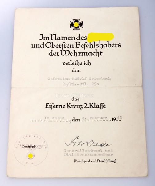 Nachlass Pionier Griesbach mit Sturmabzeichen