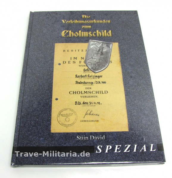 Die Verleihungsurkunden zum Cholmschild (Stijn David)