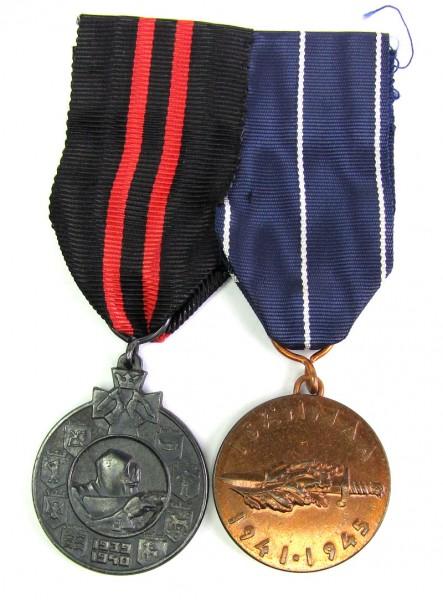 2er Spange Finnland mit Kriegserinnerungsmedaillen