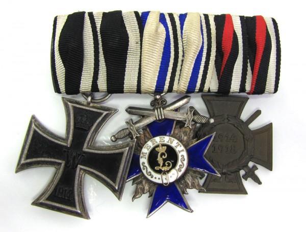 große Ordenspange mit Militärverdienstorden Bayern 4. Klasse mit Schwertern
