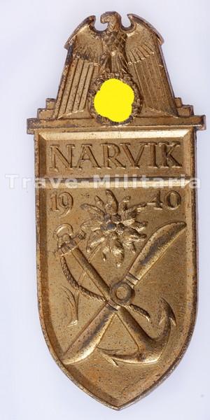 Narvikschild in Gold
