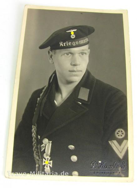 Portrait Kriegsmarine Obergefreiter EK 2 Verleihung