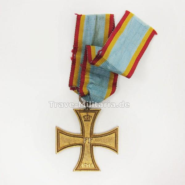 Mecklenburg-Schwerin Militär-Verdienstkreuz 1914 am Bande