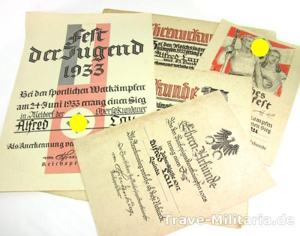 Nachlass 5 Schmuck - Urkundengruppe Lau