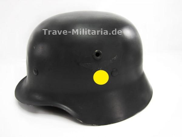 ALU Luftwaffe Paradehelm M 35 mit beiden Emblemen