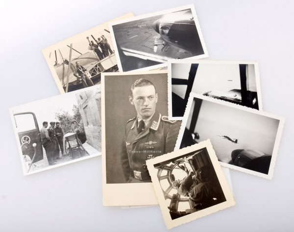 Fotos eines Fliegerschützen 7 Fotos Feldwebel mit Frontflugspange Kampfflieger