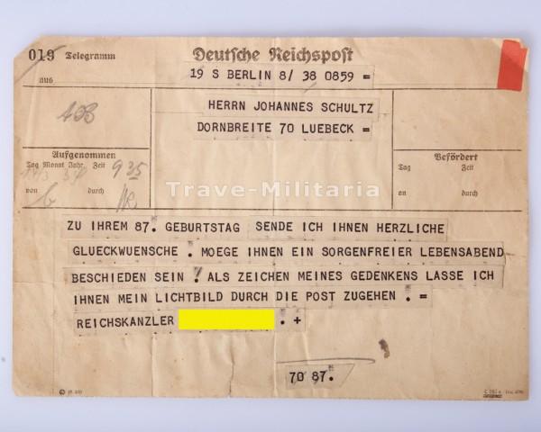 Telegramm von Hitler