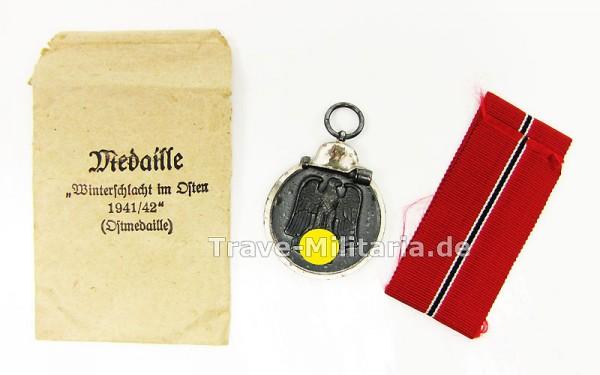 Medaille Winterschlacht im Osten in Verleihtüte