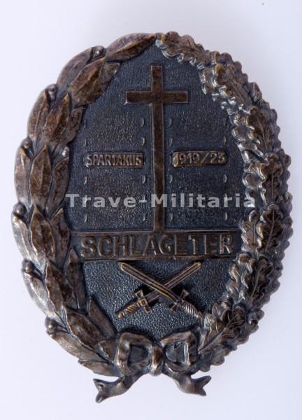 Schlageterschild mit Einsatzschild Spartakus 1919/23