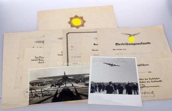 Papiergruppe Hans Schmidt Deutsches Kreuz in Gold, Wettererkundungsstaffel 5