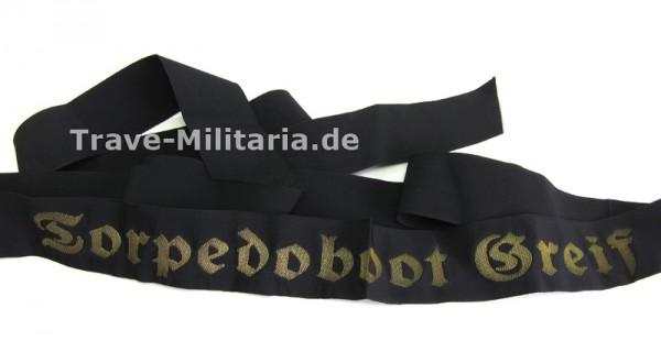 """Mützenband der Kriegsmarine Torpedeboot """"Greif"""""""