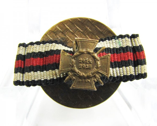 Weltkriegsehrenkreuz FEK in seltener Knopflochdekoration mit Miniatur