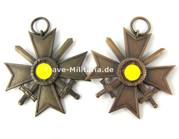 2 Kriegsverdienstkreuze 2. Klasse mit Schwertern