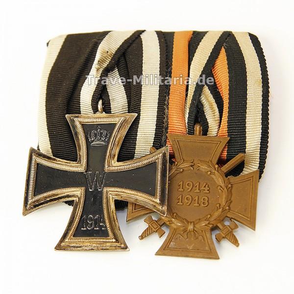 2er Ordenspange EK 2 und Frontkämpferehrenkreuz