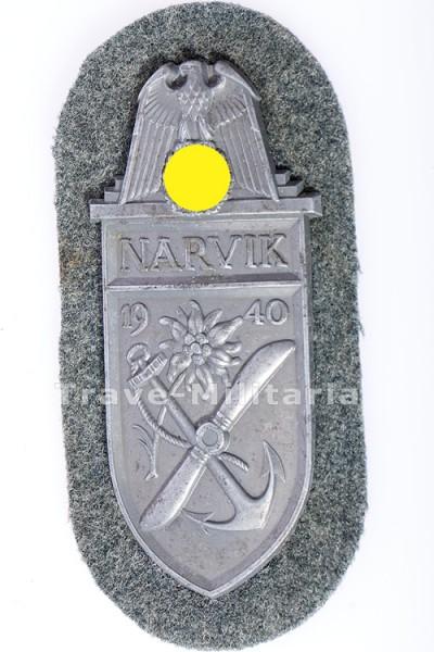 Narvikschild auf Heeresstoff