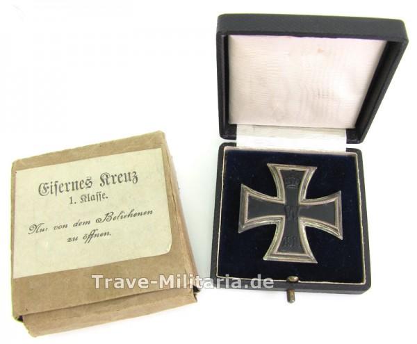 Eisernes Kreuz 1. Klasse 1914 im Etui und Umkarton
