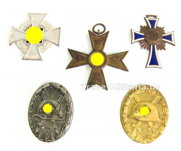 Lot defekte Orden - mit VWA Gold und Silber