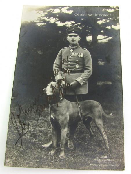 Originalunterschrift des Pour le Mérite Trägers Max Immelmann 1916