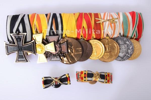 Baden - 9er Ordensspange und 2 Knopflochdekos