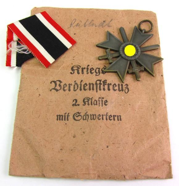 Kriegsverdienstkreuz 2. Klasse mit Schwertern mit Verleihtüte