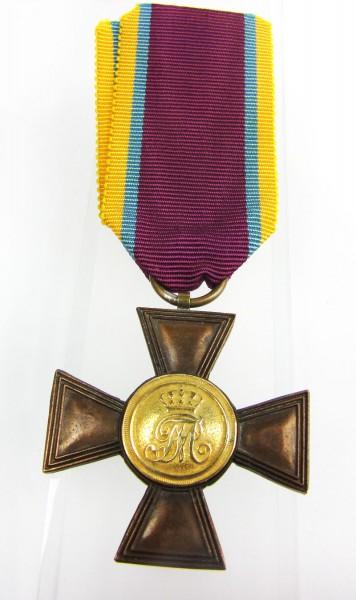 Großherzogtum Mecklenburg Schwerin Militär Dienstkreuz 1. Klasse für 21 Jahre - 1868