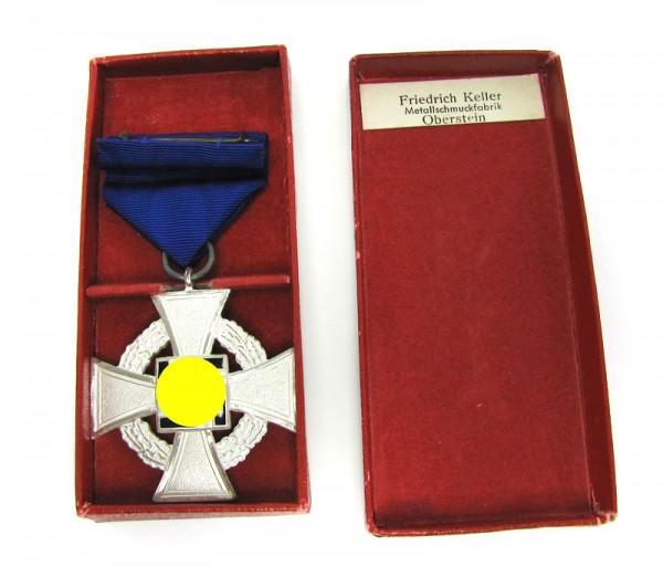 Treuedienst Ehrenzeichen 2. Stufe Silber im Etui Friedrich Keller