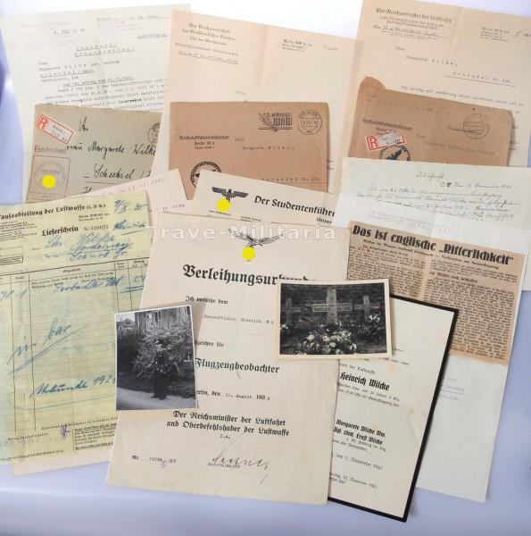 Papier-Nachlass Leutnant Heinrich Wilcke Seenotflieger