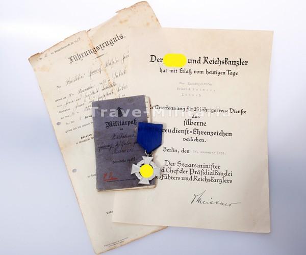 Nachlass Treudienst-Ehrenzeichen in Silber