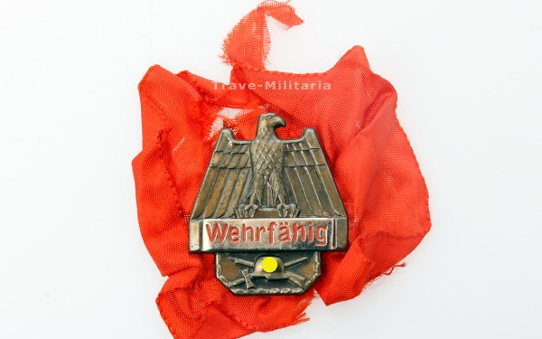 """Wehrmacht - Musterungsabzeichen """"Wehrfähig"""""""