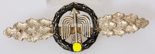 Frontflugspange für Nah-Nachtjäger in Silber aus Eichenlaubträger Nachlass